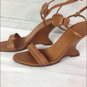 Salvatore Ferragamo wedge sandals 37 7